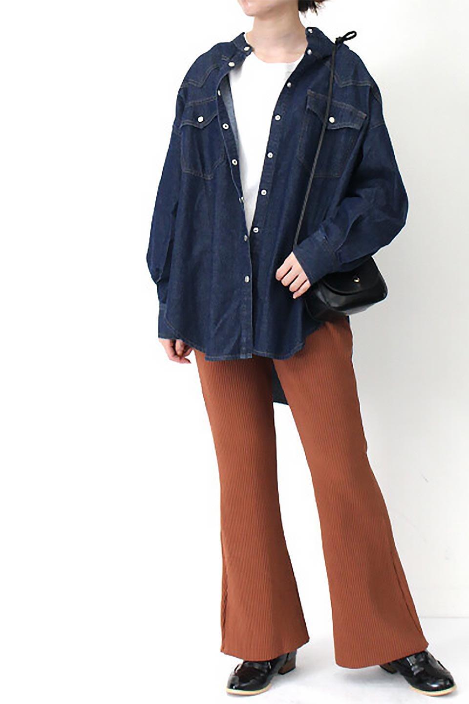 6.5ozDenimWesternBigShirtsライトデニム・ウエスタンシャツ大人カジュアルに最適な海外ファッションのothers(その他インポートアイテム)のトップスやシャツ・ブラウス。6.5オンス・ライトデニムを使用したウエスタン調のビッグシャツ。アーチ状のヨークやポケットはウエスタンシャツを感じさせるディテールですが、ルーズなシルエットは現代風な雰囲気です。/main-7