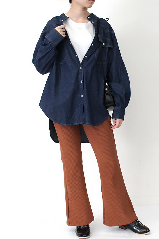 6.5ozDenimWesternBigShirtsライトデニム・ウエスタンシャツ大人カジュアルに最適な海外ファッションのothers(その他インポートアイテム)のトップスやシャツ・ブラウス。6.5オンス・ライトデニムを使用したウエスタン調のビッグシャツ。アーチ状のヨークやポケットはウエスタンシャツを感じさせるディテールですが、ルーズなシルエットは現代風な雰囲気です。/main-9