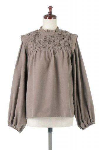 海外ファッションや大人カジュアルに最適なインポートセレクトアイテムのVolume Sleeve Gather Blouse ボリュームスリーブ・ギャザーブラウス