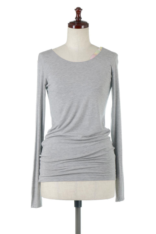 LongSleeveSmoothTeeシルクタッチ・ロンTee大人カジュアルに最適な海外ファッションのothers(その他インポートアイテム)のトップスやカットソー。シルクのような肌触りが人気のロンTeeストレッチが効いた素材でトップスやアウターに響かないタイトなシルエット。首回りや袖元はメローロック仕立て。/main-10