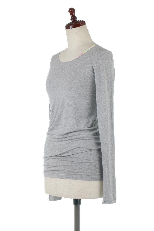 LongSleeveSmoothTeeシルクタッチ・ロンTee大人カジュアルに最適な海外ファッションのothers(その他インポートアイテム)のトップスやカットソー。シルクのような肌触りが人気のロンTeeストレッチが効いた素材でトップスやアウターに響かないタイトなシルエット。首回りや袖元はメローロック仕立て。/main-11