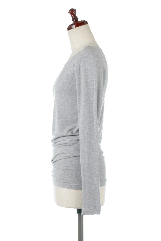LongSleeveSmoothTeeシルクタッチ・ロンTee大人カジュアルに最適な海外ファッションのothers(その他インポートアイテム)のトップスやカットソー。シルクのような肌触りが人気のロンTeeストレッチが効いた素材でトップスやアウターに響かないタイトなシルエット。首回りや袖元はメローロック仕立て。/main-12