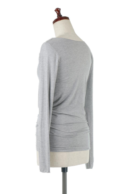 LongSleeveSmoothTeeシルクタッチ・ロンTee大人カジュアルに最適な海外ファッションのothers(その他インポートアイテム)のトップスやカットソー。シルクのような肌触りが人気のロンTeeストレッチが効いた素材でトップスやアウターに響かないタイトなシルエット。首回りや袖元はメローロック仕立て。/main-13