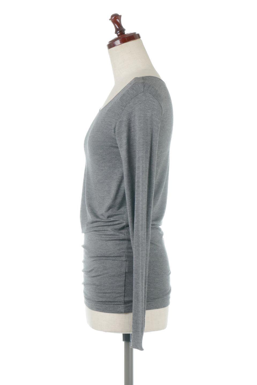 LongSleeveSmoothTeeシルクタッチ・ロンTee大人カジュアルに最適な海外ファッションのothers(その他インポートアイテム)のトップスやカットソー。シルクのような肌触りが人気のロンTeeストレッチが効いた素材でトップスやアウターに響かないタイトなシルエット。首回りや袖元はメローロック仕立て。/main-17