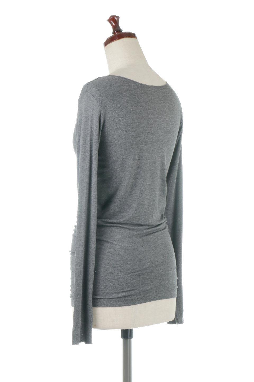 LongSleeveSmoothTeeシルクタッチ・ロンTee大人カジュアルに最適な海外ファッションのothers(その他インポートアイテム)のトップスやカットソー。シルクのような肌触りが人気のロンTeeストレッチが効いた素材でトップスやアウターに響かないタイトなシルエット。首回りや袖元はメローロック仕立て。/main-18