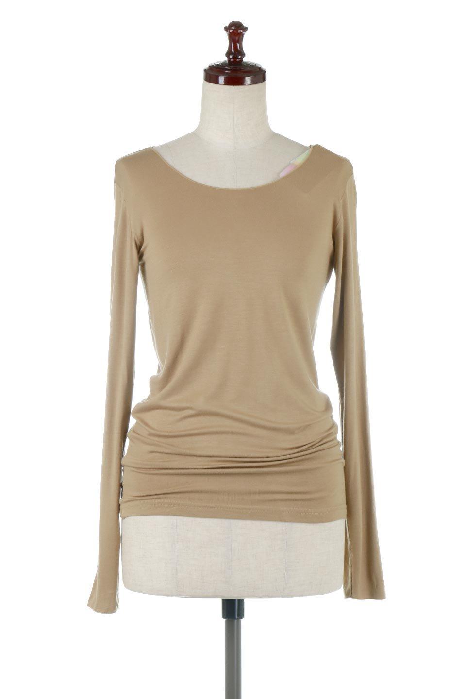 LongSleeveSmoothTeeシルクタッチ・ロンTee大人カジュアルに最適な海外ファッションのothers(その他インポートアイテム)のトップスやカットソー。シルクのような肌触りが人気のロンTeeストレッチが効いた素材でトップスやアウターに響かないタイトなシルエット。首回りや袖元はメローロック仕立て。/main-20