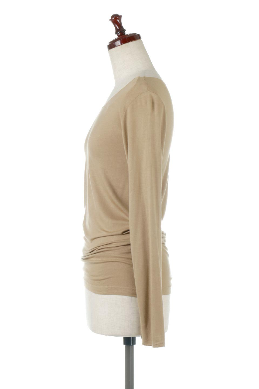 LongSleeveSmoothTeeシルクタッチ・ロンTee大人カジュアルに最適な海外ファッションのothers(その他インポートアイテム)のトップスやカットソー。シルクのような肌触りが人気のロンTeeストレッチが効いた素材でトップスやアウターに響かないタイトなシルエット。首回りや袖元はメローロック仕立て。/main-22