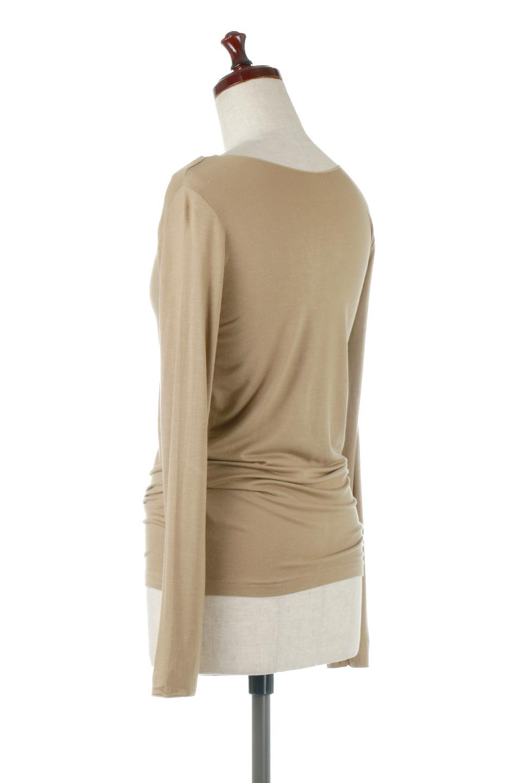 LongSleeveSmoothTeeシルクタッチ・ロンTee大人カジュアルに最適な海外ファッションのothers(その他インポートアイテム)のトップスやカットソー。シルクのような肌触りが人気のロンTeeストレッチが効いた素材でトップスやアウターに響かないタイトなシルエット。首回りや袖元はメローロック仕立て。/main-23