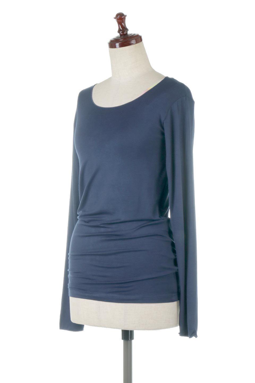 LongSleeveSmoothTeeシルクタッチ・ロンTee大人カジュアルに最適な海外ファッションのothers(その他インポートアイテム)のトップスやカットソー。シルクのような肌触りが人気のロンTeeストレッチが効いた素材でトップスやアウターに響かないタイトなシルエット。首回りや袖元はメローロック仕立て。/main-26