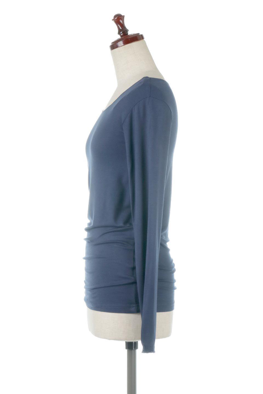 LongSleeveSmoothTeeシルクタッチ・ロンTee大人カジュアルに最適な海外ファッションのothers(その他インポートアイテム)のトップスやカットソー。シルクのような肌触りが人気のロンTeeストレッチが効いた素材でトップスやアウターに響かないタイトなシルエット。首回りや袖元はメローロック仕立て。/main-27