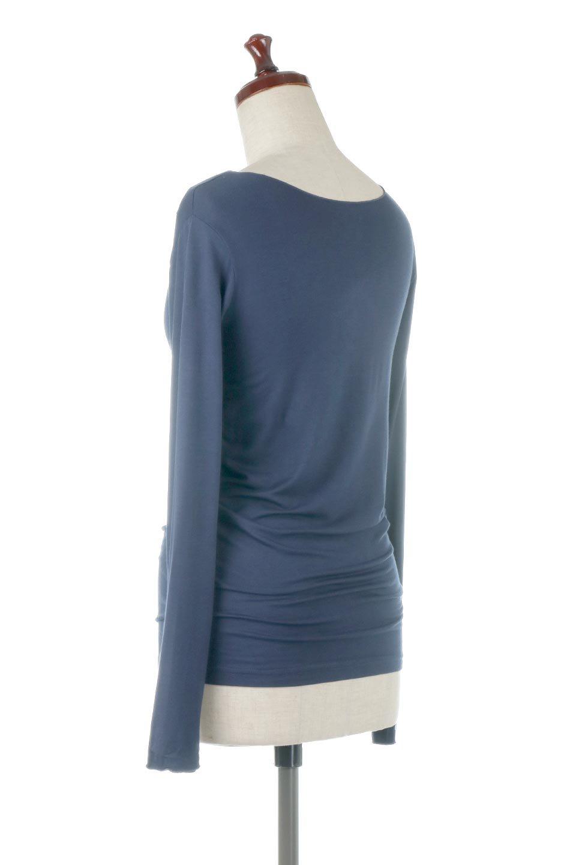 LongSleeveSmoothTeeシルクタッチ・ロンTee大人カジュアルに最適な海外ファッションのothers(その他インポートアイテム)のトップスやカットソー。シルクのような肌触りが人気のロンTeeストレッチが効いた素材でトップスやアウターに響かないタイトなシルエット。首回りや袖元はメローロック仕立て。/main-28