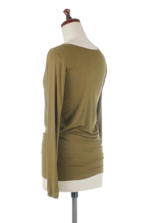LongSleeveSmoothTeeシルクタッチ・ロンTee大人カジュアルに最適な海外ファッションのothers(その他インポートアイテム)のトップスやカットソー。シルクのような肌触りが人気のロンTeeストレッチが効いた素材でトップスやアウターに響かないタイトなシルエット。首回りや袖元はメローロック仕立て。/main-3