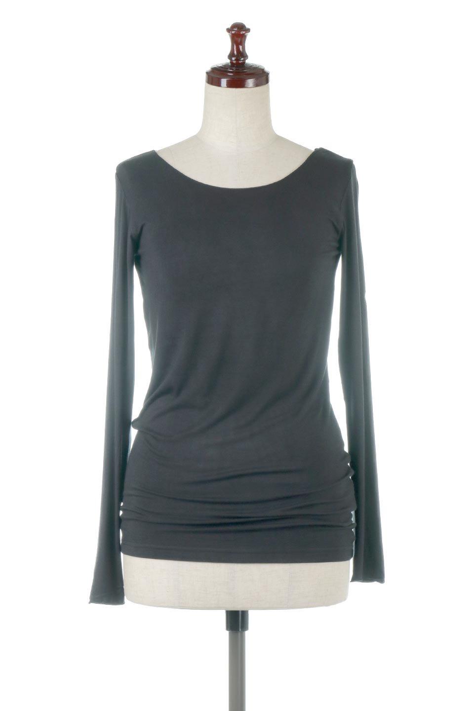 LongSleeveSmoothTeeシルクタッチ・ロンTee大人カジュアルに最適な海外ファッションのothers(その他インポートアイテム)のトップスやカットソー。シルクのような肌触りが人気のロンTeeストレッチが効いた素材でトップスやアウターに響かないタイトなシルエット。首回りや袖元はメローロック仕立て。/main-30