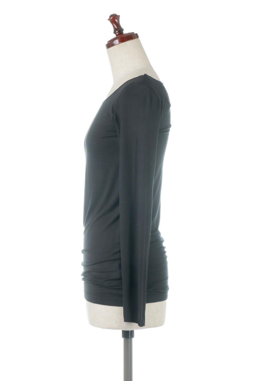 LongSleeveSmoothTeeシルクタッチ・ロンTee大人カジュアルに最適な海外ファッションのothers(その他インポートアイテム)のトップスやカットソー。シルクのような肌触りが人気のロンTeeストレッチが効いた素材でトップスやアウターに響かないタイトなシルエット。首回りや袖元はメローロック仕立て。/main-32