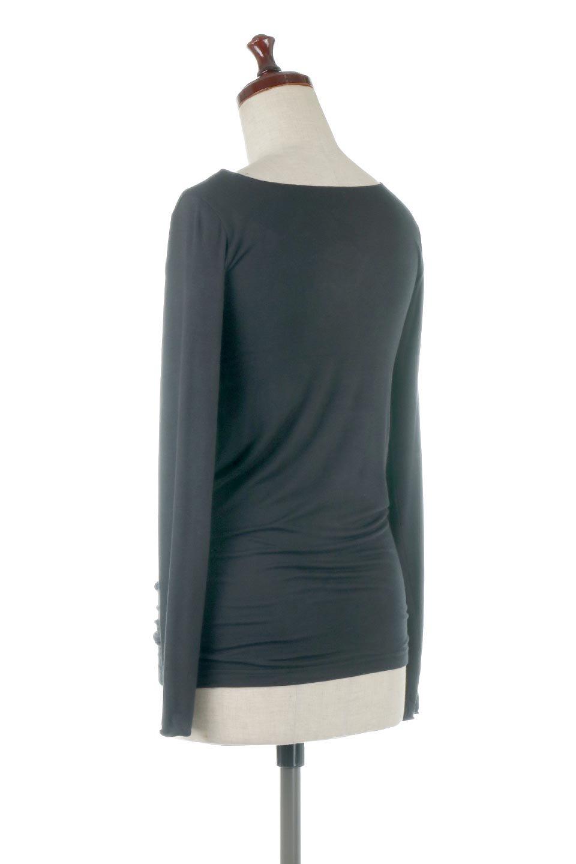 LongSleeveSmoothTeeシルクタッチ・ロンTee大人カジュアルに最適な海外ファッションのothers(その他インポートアイテム)のトップスやカットソー。シルクのような肌触りが人気のロンTeeストレッチが効いた素材でトップスやアウターに響かないタイトなシルエット。首回りや袖元はメローロック仕立て。/main-33