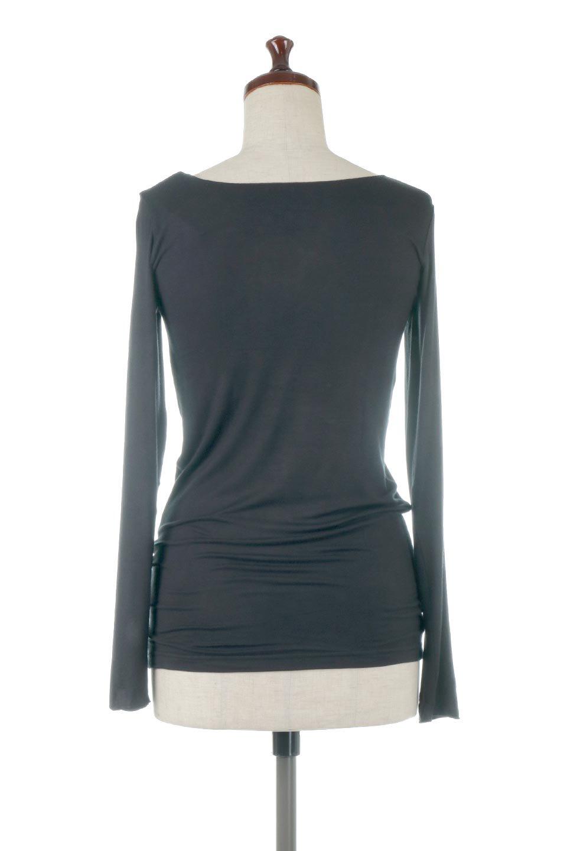 LongSleeveSmoothTeeシルクタッチ・ロンTee大人カジュアルに最適な海外ファッションのothers(その他インポートアイテム)のトップスやカットソー。シルクのような肌触りが人気のロンTeeストレッチが効いた素材でトップスやアウターに響かないタイトなシルエット。首回りや袖元はメローロック仕立て。/main-34