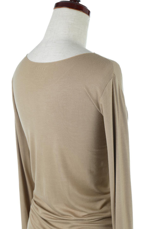 LongSleeveSmoothTeeシルクタッチ・ロンTee大人カジュアルに最適な海外ファッションのothers(その他インポートアイテム)のトップスやカットソー。シルクのような肌触りが人気のロンTeeストレッチが効いた素材でトップスやアウターに響かないタイトなシルエット。首回りや袖元はメローロック仕立て。/main-37