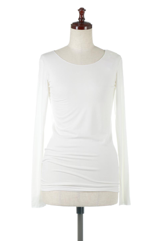 LongSleeveSmoothTeeシルクタッチ・ロンTee大人カジュアルに最適な海外ファッションのothers(その他インポートアイテム)のトップスやカットソー。シルクのような肌触りが人気のロンTeeストレッチが効いた素材でトップスやアウターに響かないタイトなシルエット。首回りや袖元はメローロック仕立て。/main-5