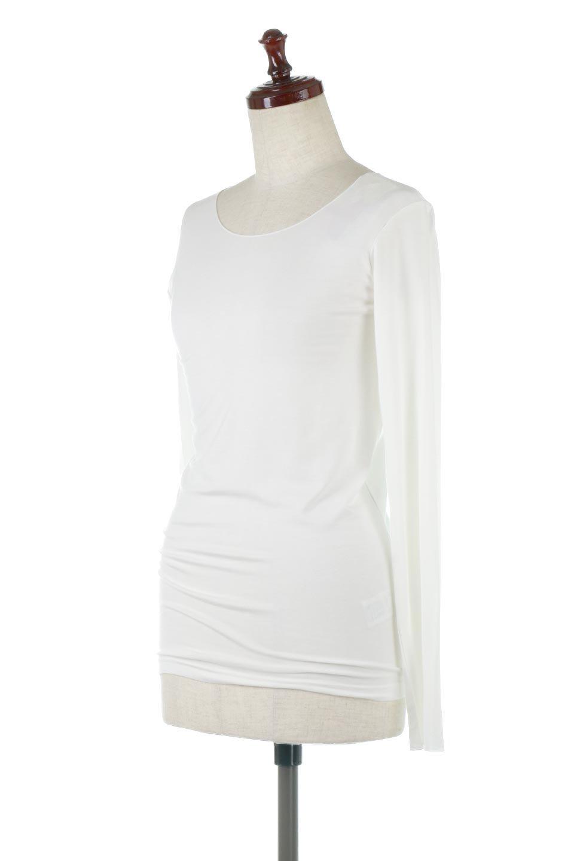 LongSleeveSmoothTeeシルクタッチ・ロンTee大人カジュアルに最適な海外ファッションのothers(その他インポートアイテム)のトップスやカットソー。シルクのような肌触りが人気のロンTeeストレッチが効いた素材でトップスやアウターに響かないタイトなシルエット。首回りや袖元はメローロック仕立て。/main-6
