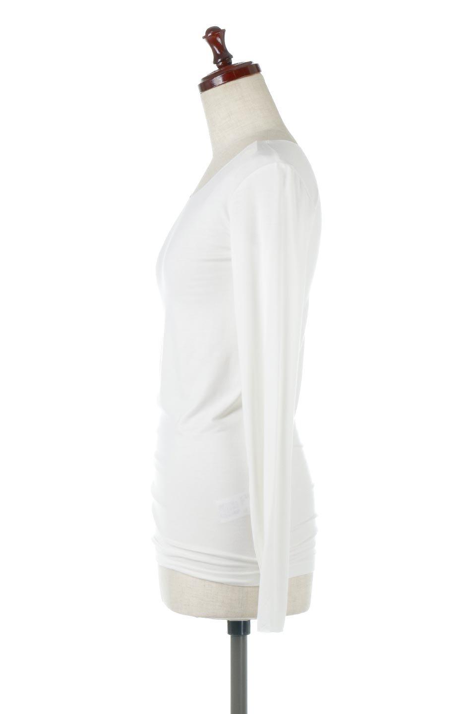 LongSleeveSmoothTeeシルクタッチ・ロンTee大人カジュアルに最適な海外ファッションのothers(その他インポートアイテム)のトップスやカットソー。シルクのような肌触りが人気のロンTeeストレッチが効いた素材でトップスやアウターに響かないタイトなシルエット。首回りや袖元はメローロック仕立て。/main-7