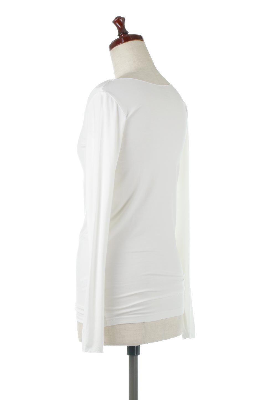 LongSleeveSmoothTeeシルクタッチ・ロンTee大人カジュアルに最適な海外ファッションのothers(その他インポートアイテム)のトップスやカットソー。シルクのような肌触りが人気のロンTeeストレッチが効いた素材でトップスやアウターに響かないタイトなシルエット。首回りや袖元はメローロック仕立て。/main-8