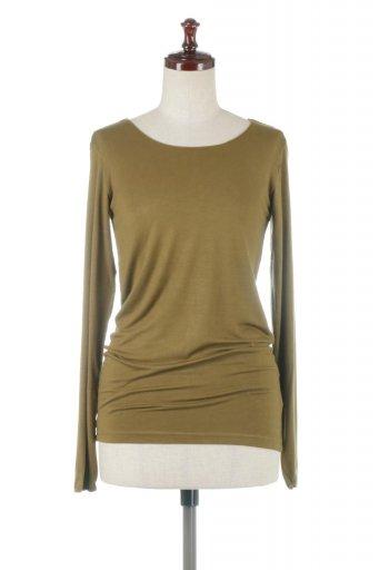 海外ファッションや大人カジュアルに最適なインポートセレクトアイテムのLong Sleeve Smooth Tee シルクタッチ・ロンTee