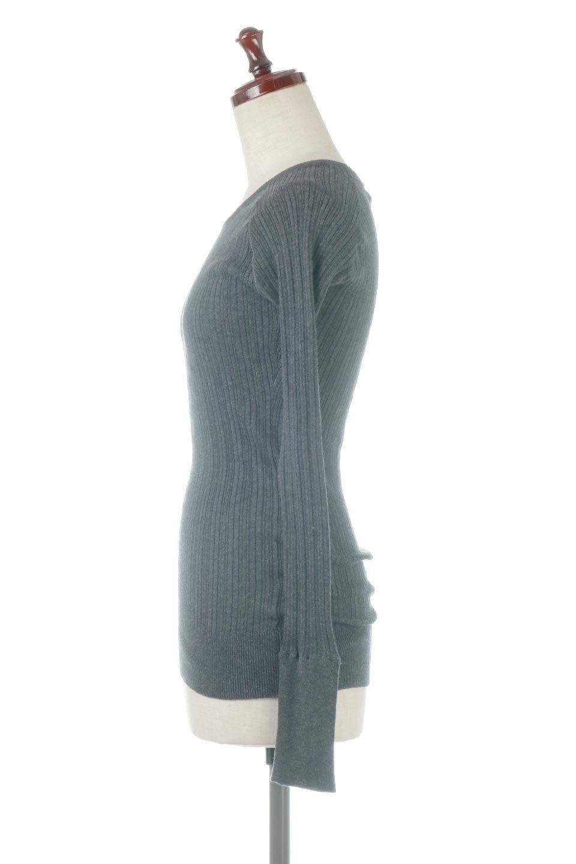 RandomBroadStitchCrewNeckTopランダムテレコ・クルーネック大人カジュアルに最適な海外ファッションのothers(その他インポートアイテム)のトップスやカットソー。テレコニット特融のフィット感が心地よい綿100%のカットソー。伸縮性に優れ、綿特有の吸湿性の良さもうれしい、機能面でも優れた万能アイテム。/main-17
