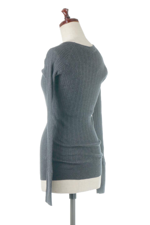 RandomBroadStitchCrewNeckTopランダムテレコ・クルーネック大人カジュアルに最適な海外ファッションのothers(その他インポートアイテム)のトップスやカットソー。テレコニット特融のフィット感が心地よい綿100%のカットソー。伸縮性に優れ、綿特有の吸湿性の良さもうれしい、機能面でも優れた万能アイテム。/main-18