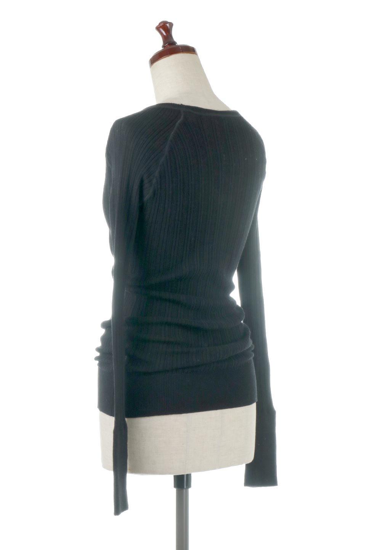 RandomBroadStitchCrewNeckTopランダムテレコ・クルーネック大人カジュアルに最適な海外ファッションのothers(その他インポートアイテム)のトップスやカットソー。テレコニット特融のフィット感が心地よい綿100%のカットソー。伸縮性に優れ、綿特有の吸湿性の良さもうれしい、機能面でも優れた万能アイテム。/main-23