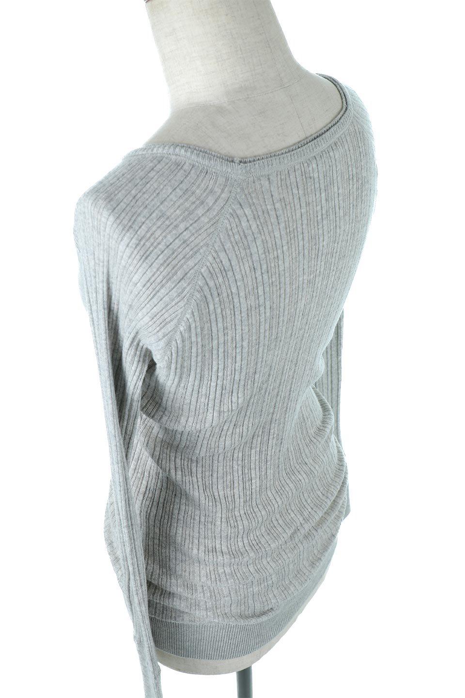 RandomBroadStitchCrewNeckTopランダムテレコ・クルーネック大人カジュアルに最適な海外ファッションのothers(その他インポートアイテム)のトップスやカットソー。テレコニット特融のフィット感が心地よい綿100%のカットソー。伸縮性に優れ、綿特有の吸湿性の良さもうれしい、機能面でも優れた万能アイテム。/main-28
