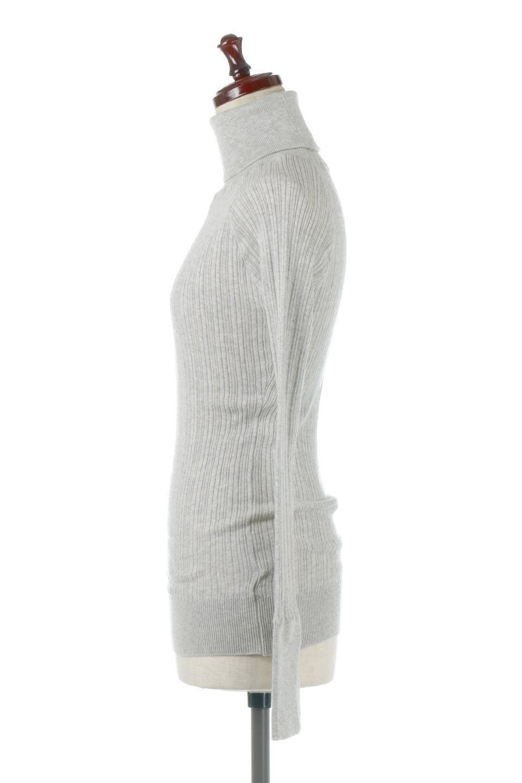 RandomBroadStitchCrewNeckTopランダムテレコ・タートルネック大人カジュアルに最適な海外ファッションのothers(その他インポートアイテム)のトップスやカットソー。テレコニット特融のフィット感が心地よい綿100%のカットソー。伸縮性に優れ、綿特有の吸湿性の良さもうれしい、機能面でも優れた万能アイテム。/main-8
