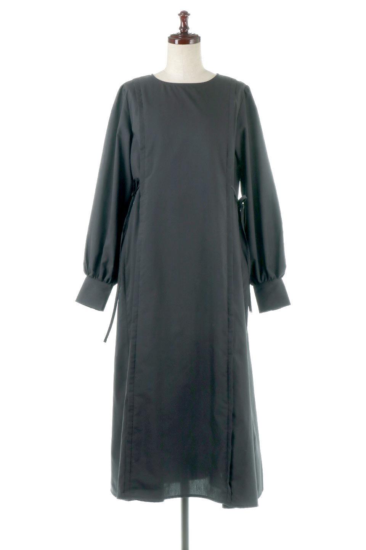 SideRibbonPuffSleeveDressサイドリボン・パフスリーブワンピース大人カジュアルに最適な海外ファッションのothers(その他インポートアイテム)のワンピースやマキシワンピース。サイドのリボンがアクセントのロングワンピース。パフスリーブのシンプルなデザインで女性らしを感じるアイテム。/main-10