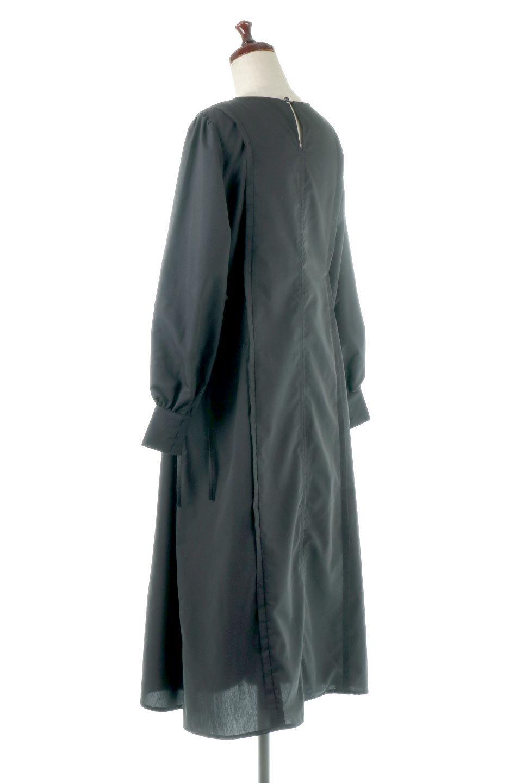 SideRibbonPuffSleeveDressサイドリボン・パフスリーブワンピース大人カジュアルに最適な海外ファッションのothers(その他インポートアイテム)のワンピースやマキシワンピース。サイドのリボンがアクセントのロングワンピース。パフスリーブのシンプルなデザインで女性らしを感じるアイテム。/main-13