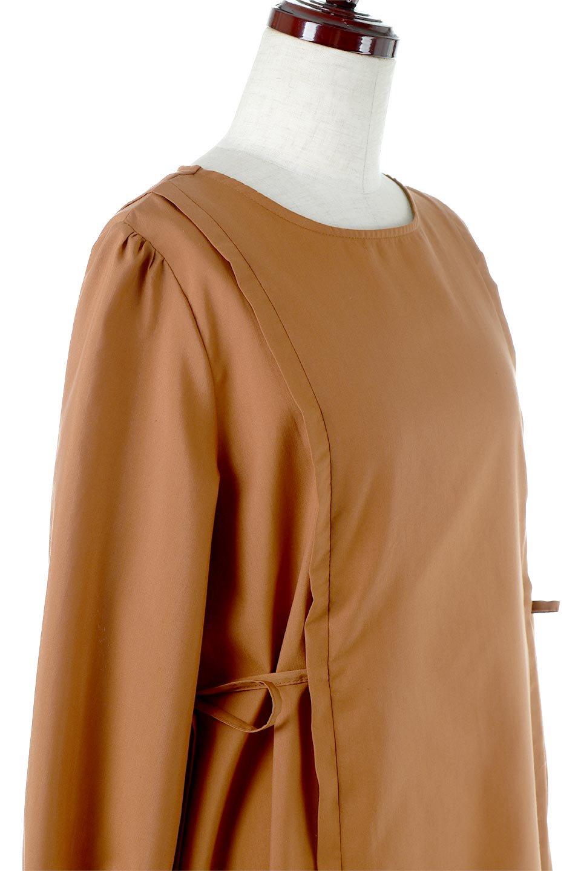 SideRibbonPuffSleeveDressサイドリボン・パフスリーブワンピース大人カジュアルに最適な海外ファッションのothers(その他インポートアイテム)のワンピースやマキシワンピース。サイドのリボンがアクセントのロングワンピース。パフスリーブのシンプルなデザインで女性らしを感じるアイテム。/main-15