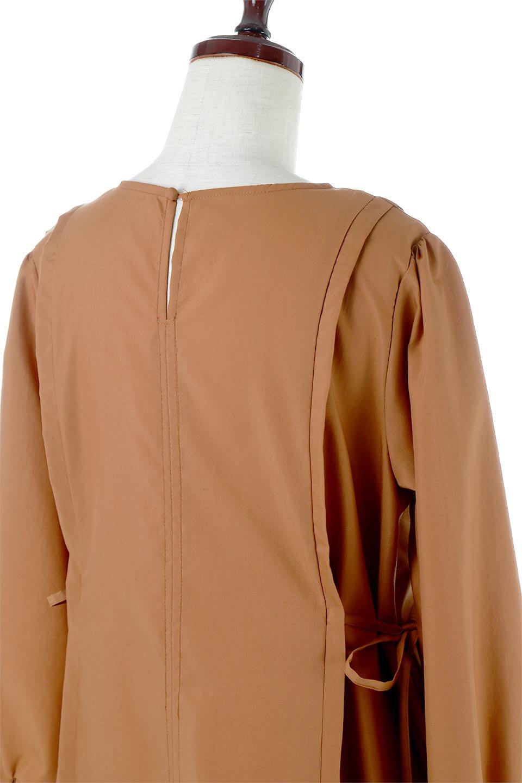 SideRibbonPuffSleeveDressサイドリボン・パフスリーブワンピース大人カジュアルに最適な海外ファッションのothers(その他インポートアイテム)のワンピースやマキシワンピース。サイドのリボンがアクセントのロングワンピース。パフスリーブのシンプルなデザインで女性らしを感じるアイテム。/main-16