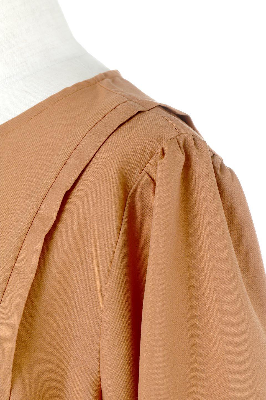 SideRibbonPuffSleeveDressサイドリボン・パフスリーブワンピース大人カジュアルに最適な海外ファッションのothers(その他インポートアイテム)のワンピースやマキシワンピース。サイドのリボンがアクセントのロングワンピース。パフスリーブのシンプルなデザインで女性らしを感じるアイテム。/main-17