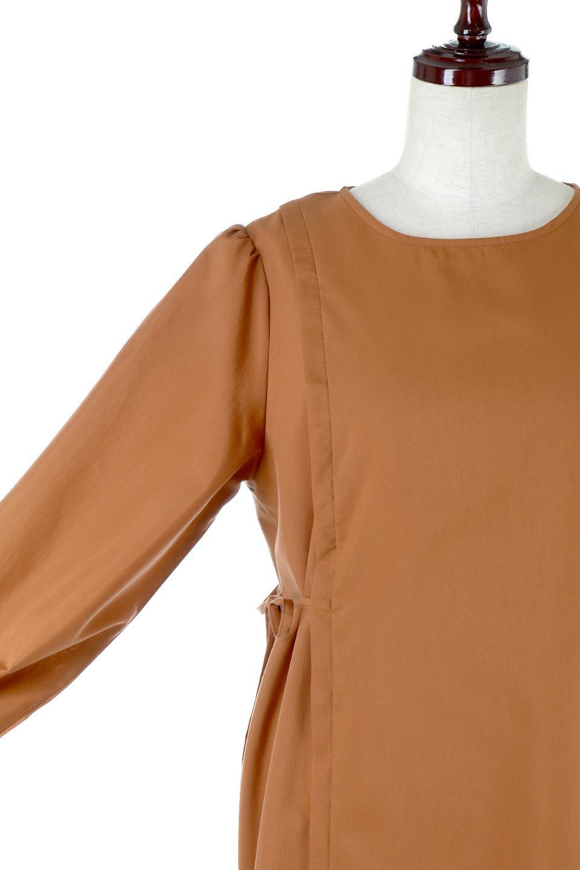 SideRibbonPuffSleeveDressサイドリボン・パフスリーブワンピース大人カジュアルに最適な海外ファッションのothers(その他インポートアイテム)のワンピースやマキシワンピース。サイドのリボンがアクセントのロングワンピース。パフスリーブのシンプルなデザインで女性らしを感じるアイテム。/main-18
