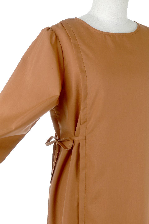 SideRibbonPuffSleeveDressサイドリボン・パフスリーブワンピース大人カジュアルに最適な海外ファッションのothers(その他インポートアイテム)のワンピースやマキシワンピース。サイドのリボンがアクセントのロングワンピース。パフスリーブのシンプルなデザインで女性らしを感じるアイテム。/main-21