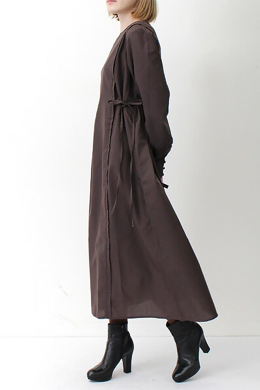 SideRibbonPuffSleeveDressサイドリボン・パフスリーブワンピース大人カジュアルに最適な海外ファッションのothers(その他インポートアイテム)のワンピースやマキシワンピース。サイドのリボンがアクセントのロングワンピース。パフスリーブのシンプルなデザインで女性らしを感じるアイテム。/main-24