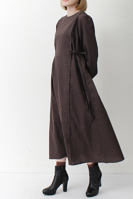 SideRibbonPuffSleeveDressサイドリボン・パフスリーブワンピース大人カジュアルに最適な海外ファッションのothers(その他インポートアイテム)のワンピースやマキシワンピース。サイドのリボンがアクセントのロングワンピース。パフスリーブのシンプルなデザインで女性らしを感じるアイテム。/main-26