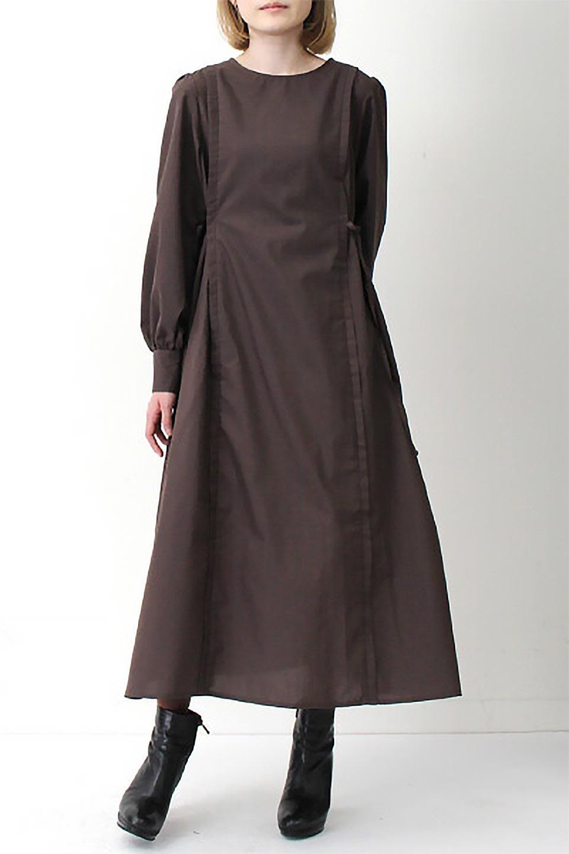 SideRibbonPuffSleeveDressサイドリボン・パフスリーブワンピース大人カジュアルに最適な海外ファッションのothers(その他インポートアイテム)のワンピースやマキシワンピース。サイドのリボンがアクセントのロングワンピース。パフスリーブのシンプルなデザインで女性らしを感じるアイテム。/main-27