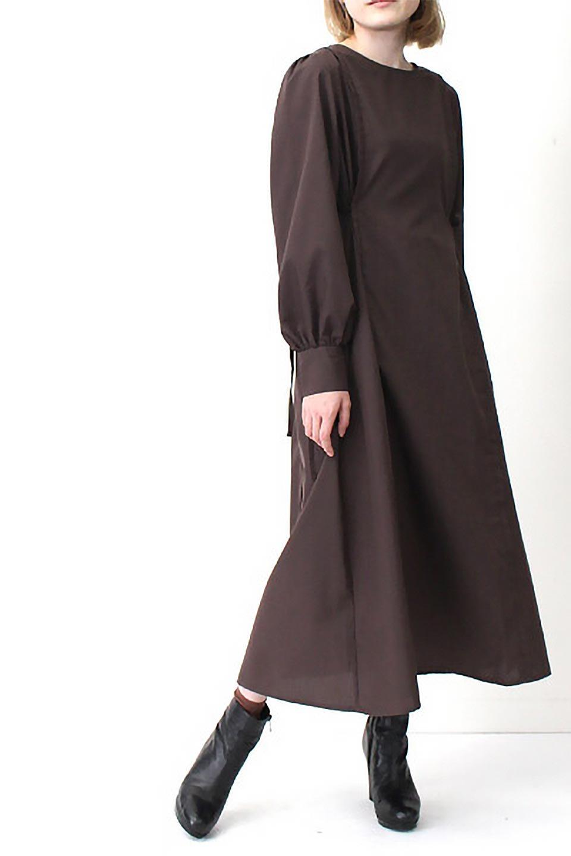 SideRibbonPuffSleeveDressサイドリボン・パフスリーブワンピース大人カジュアルに最適な海外ファッションのothers(その他インポートアイテム)のワンピースやマキシワンピース。サイドのリボンがアクセントのロングワンピース。パフスリーブのシンプルなデザインで女性らしを感じるアイテム。/main-28