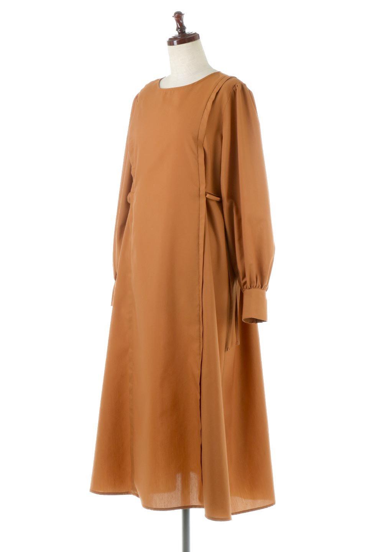 SideRibbonPuffSleeveDressサイドリボン・パフスリーブワンピース大人カジュアルに最適な海外ファッションのothers(その他インポートアイテム)のワンピースやマキシワンピース。サイドのリボンがアクセントのロングワンピース。パフスリーブのシンプルなデザインで女性らしを感じるアイテム。/main-6