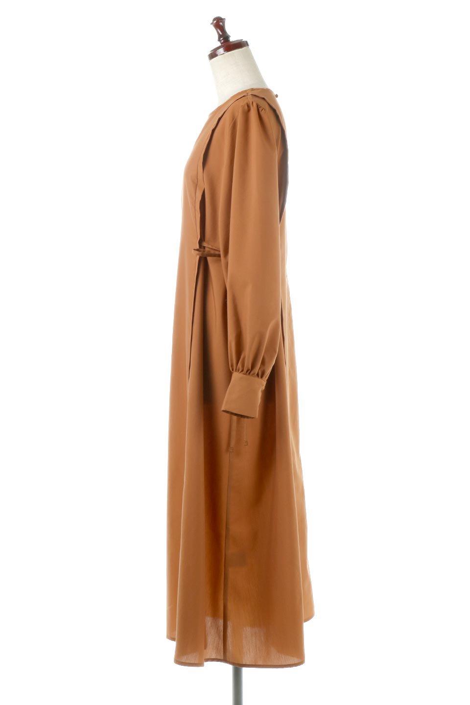 SideRibbonPuffSleeveDressサイドリボン・パフスリーブワンピース大人カジュアルに最適な海外ファッションのothers(その他インポートアイテム)のワンピースやマキシワンピース。サイドのリボンがアクセントのロングワンピース。パフスリーブのシンプルなデザインで女性らしを感じるアイテム。/main-7