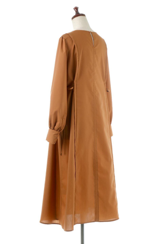 SideRibbonPuffSleeveDressサイドリボン・パフスリーブワンピース大人カジュアルに最適な海外ファッションのothers(その他インポートアイテム)のワンピースやマキシワンピース。サイドのリボンがアクセントのロングワンピース。パフスリーブのシンプルなデザインで女性らしを感じるアイテム。/main-8
