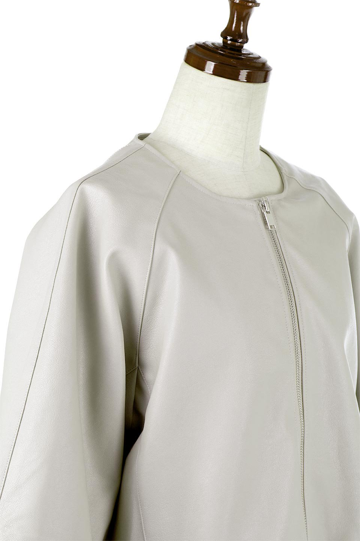 PuffSleeveEcoLeatherJacket袖コンシャス・エコレザージャケット大人カジュアルに最適な海外ファッションのothers(その他インポートアイテム)のアウターやジャケット。ボリュームのある袖と短めの着丈でバランスが取りやすいレザージャケット。パフスリーブのシルエットで腕周りをきれいに見せてくれます。/main-10