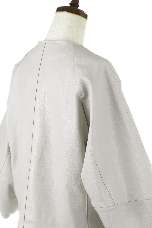 PuffSleeveEcoLeatherJacket袖コンシャス・エコレザージャケット大人カジュアルに最適な海外ファッションのothers(その他インポートアイテム)のアウターやジャケット。ボリュームのある袖と短めの着丈でバランスが取りやすいレザージャケット。パフスリーブのシルエットで腕周りをきれいに見せてくれます。/main-11