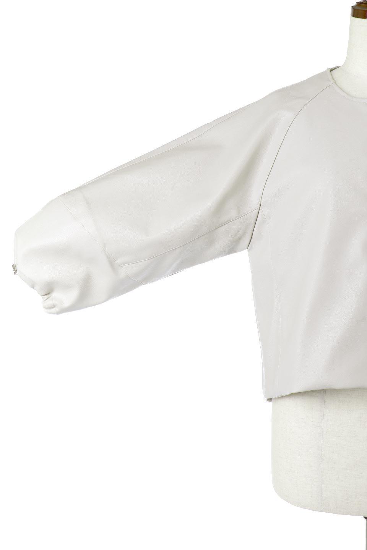 PuffSleeveEcoLeatherJacket袖コンシャス・エコレザージャケット大人カジュアルに最適な海外ファッションのothers(その他インポートアイテム)のアウターやジャケット。ボリュームのある袖と短めの着丈でバランスが取りやすいレザージャケット。パフスリーブのシルエットで腕周りをきれいに見せてくれます。/main-13