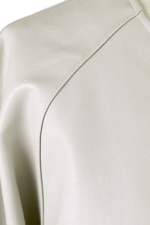 PuffSleeveEcoLeatherJacket袖コンシャス・エコレザージャケット大人カジュアルに最適な海外ファッションのothers(その他インポートアイテム)のアウターやジャケット。ボリュームのある袖と短めの着丈でバランスが取りやすいレザージャケット。パフスリーブのシルエットで腕周りをきれいに見せてくれます。/main-16