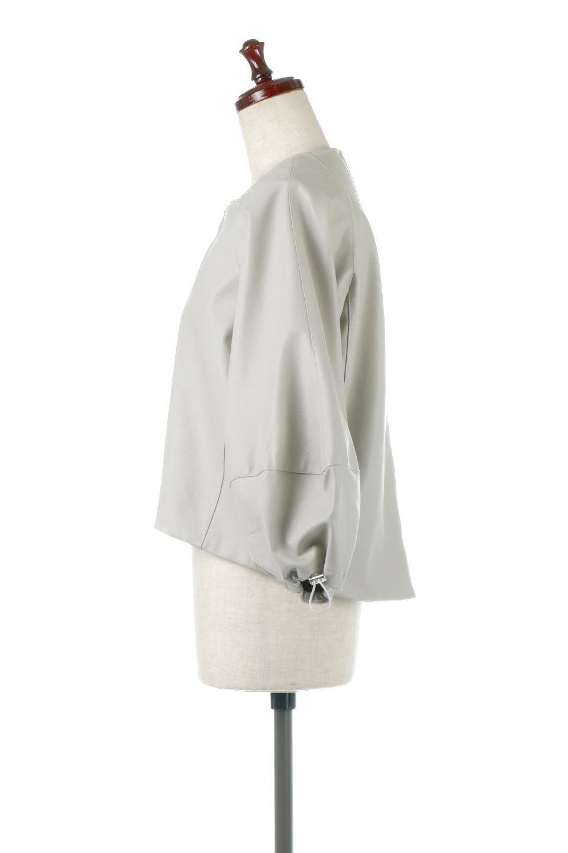 PuffSleeveEcoLeatherJacket袖コンシャス・エコレザージャケット大人カジュアルに最適な海外ファッションのothers(その他インポートアイテム)のアウターやジャケット。ボリュームのある袖と短めの着丈でバランスが取りやすいレザージャケット。パフスリーブのシルエットで腕周りをきれいに見せてくれます。/main-7